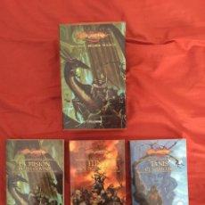 Libros de segunda mano: ¡¡¡ESTUCHE 3 LIBROS 2ª TRILOGÍA PRELUDIOS DE LA DRAGONLANCE. TIMUN MAS 2006!!!. Lote 134121942