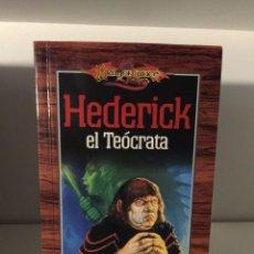 Libros de segunda mano: ¡¡¡DRAGONLANCE. LIBRO HÉDERICK EL TEÓCRATA. ELLEN DODGE. TIMUN MAS. AÑO 2000!!!. Lote 134127038