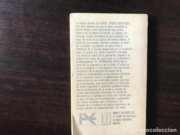 Libros de segunda mano: El extranjero. Albert Camus - Foto 2 - 134808187