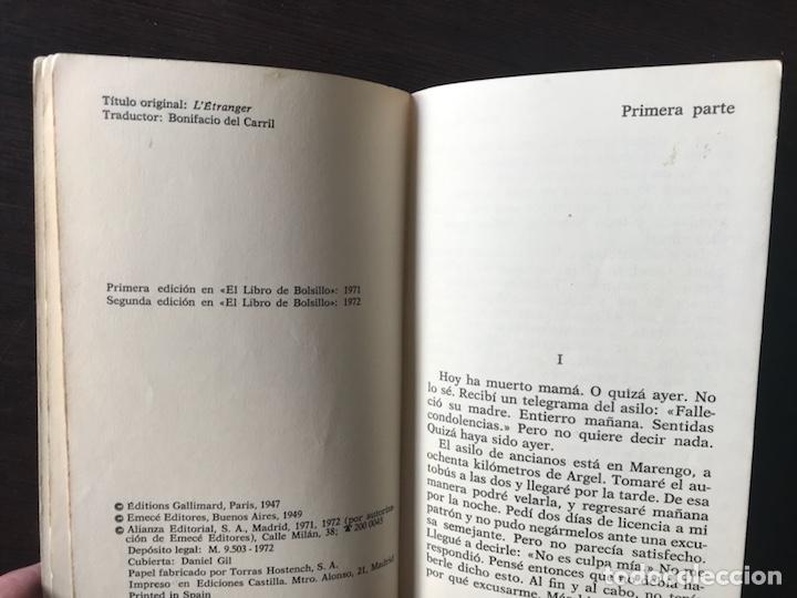 Libros de segunda mano: El extranjero. Albert Camus - Foto 3 - 134808187