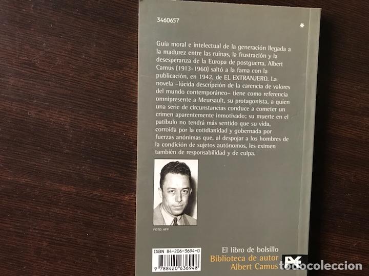 Libros de segunda mano: El extranjero. Albert Camus - Foto 2 - 135565829