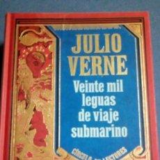 Libros de segunda mano: JULIO VERNE. VEINTE MIL LEGUAS DE VIAJE SUBMARINO. Lote 137594106