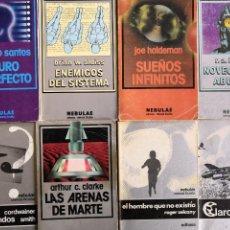 Libros de segunda mano: COLECCIÓN NEBULAE EDHASA DE CIENCIA FICCIÓN. 8 TOMOS. Lote 59579323