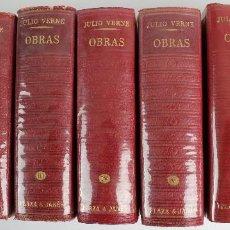 Libros de segunda mano: L-5179. OBRAS DE JULIO VERNE. 7 TOMOS. CLASICOS DEL SIGLO XIX. PLAZA & JANÉS. AÑO 1961-1962.. Lote 137867514