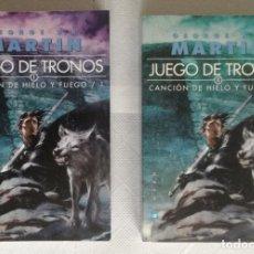 Libros de segunda mano: JUEGO DE TRONOS (CANCION DE HIELO Y FUEGO 1) - GEORGE R.R. MARTIN; GIGAMESH. Lote 139009294
