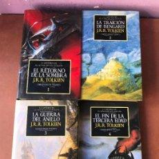 Libros de segunda mano: COLECCION LA HISTORIA DE EL SEÑOR DE LOS ANILLOS COMPLETA TOMOS 1, 2, 3 Y 4 - CHRISTOPHER TOLKIEN. Lote 139241570