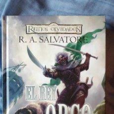 Libros de segunda mano: EL REY ORCO - TRANSICIONES 1 - R. A. SALVATORE - EDITORIAL TIMUNMAS 2008 TAPAS DURAS 428 PÁGINAS. Lote 139899154
