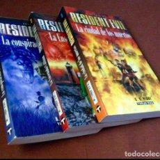 Libros de segunda mano: RESIDENT EVIL. TIMUN MAS. 3 LIBROS. CONSPIRACIÓN UMBRELLA. ENSENADA CALIBÁN. CIUDAD DE MUERTOS.. Lote 143114002