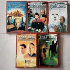 Libros de segunda mano: STAR TREK LA NUEVA GENERACION 1 AL 5 MUY NUEVOS - A.C.CRISPIN - LA FACTORIA DE IDEAS. Lote 144407818