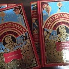 Libros de segunda mano: COLECCIÓN LIBROS VIAJES EXTRAORDINARIOS DE JULIO VERNE.EDICIÓN LUJO. Lote 145822102