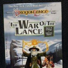 Libros de segunda mano: DRAGONLANCE - THE WAR OF THE LANCE - LIBRO - TAPA BLANDA - USA - FANTASIA. Lote 147230914