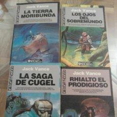 Libros de segunda mano: JACK VANCE, LA SAGA DE LA TIERRA MORIBUNDA, 4 TOMOS. Lote 148855904