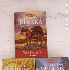 Libros de segunda mano: DRAGON LANCE LA GUERRA DE LOS ESPIRITUS LIBROS 1,2,3 COMPLETA - WEIS - HICKMAN -TAPA DURA TIMUN MAS. Lote 151660650