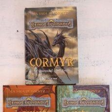 Libros de segunda mano: REINOS OLVIDADOS - LA SAGA DE CORMYR LIBROS 1,2,3 - ED GREENWOOD Y JEFF GRUBB - TIMUN MAS 2001. Lote 151661010