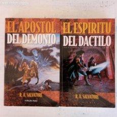 Libros de segunda mano: LAS GUERRAS DEMONIACAS LIBROS 3 Y 5 - R.A.SALVATORE - TIMUN MAS 2000 - EL APOSTOL DEL DEMONIO, EL ES. Lote 151661246