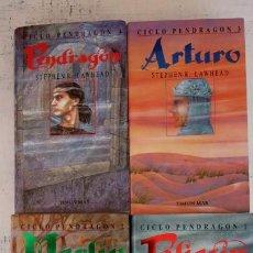 Libros de segunda mano: CICLO PENDRAGON - 1,2,3,4 - STEPHEN R. LAWHEAD - 1989 - TIMUN MAS - TAPA DURA CON SOBRECUBIERTA. Lote 152053906