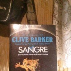Libros de segunda mano: SANGRE, CLIVE BARKER, ED. GRAN SUPER FICCION. Lote 152339542
