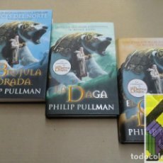 Libros de segunda mano: PULLMAN, PHILIP: LA MATERIA OSCURA. I:LA BRÚJULA DORADA. II:LA DAGA. III:EL CATALEJO LACADO .... Lote 153097170
