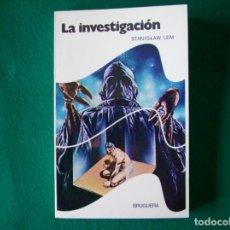 Libros de segunda mano: LA INVESTIGACIÓN - STANISLAW LEM - BRUGUERA - AÑO 1977. Lote 153808882