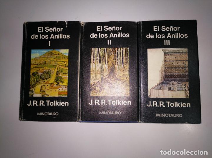 Libros de segunda mano: EL SEÑOR DE LOS ANILLOS. 3 TOMOS. I, II Y III. EDITORIAL MINOTAURO. TDK375 - Foto 2 - 154832702