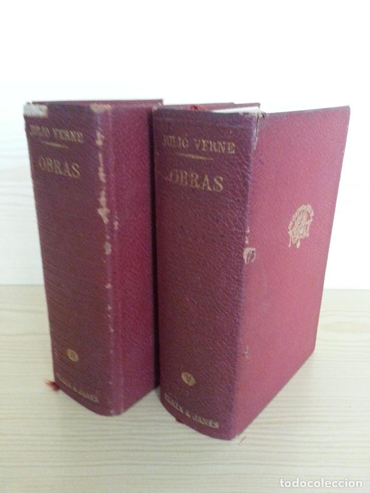 Libros de segunda mano: JULIO VERNE: OBRAS COMPLETAS, VOLS. II y V (2 TOMOS) - PLAZA & JANÉS, 1970/1971 - Foto 2 - 155682942