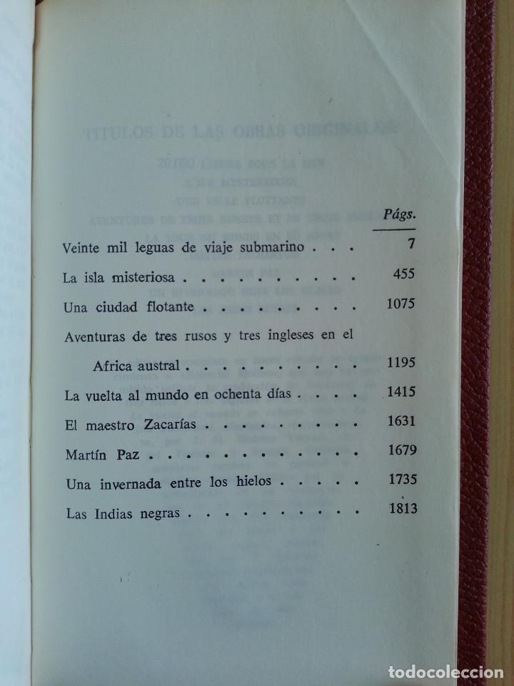 Libros de segunda mano: JULIO VERNE: OBRAS COMPLETAS, VOLS. II y V (2 TOMOS) - PLAZA & JANÉS, 1970/1971 - Foto 6 - 155682942