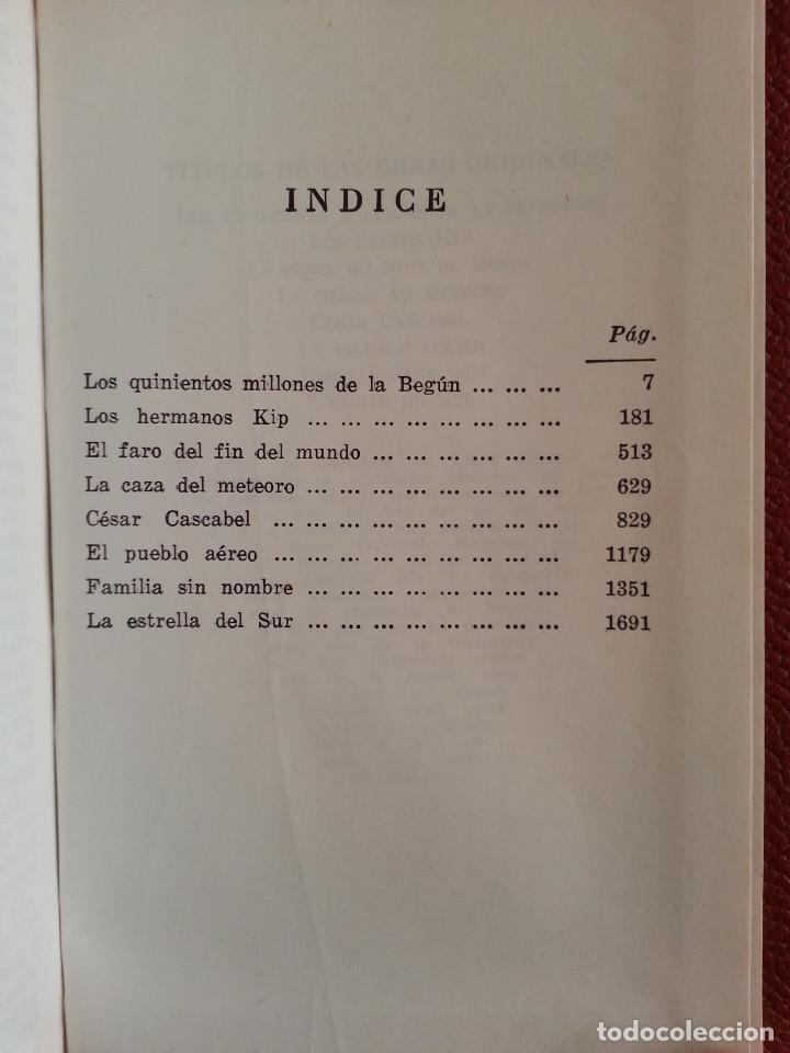Libros de segunda mano: JULIO VERNE: OBRAS COMPLETAS, VOLS. II y V (2 TOMOS) - PLAZA & JANÉS, 1970/1971 - Foto 8 - 155682942