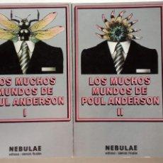 Libros de segunda mano: NEBULAE 2ª NºS 57 Y 58 - LOS MUCHOS MUNDOS DE POUL ANDERSON 1 Y 2 - EDHASA 1982 - CAJA 11. Lote 156990434