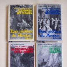 Libros de segunda mano: LAS NIEBLAS DE AVALÓN - TETRALOGÍA COMPLETA - MARION ZIMMER BRADLEY - ACERVO. Lote 159283902