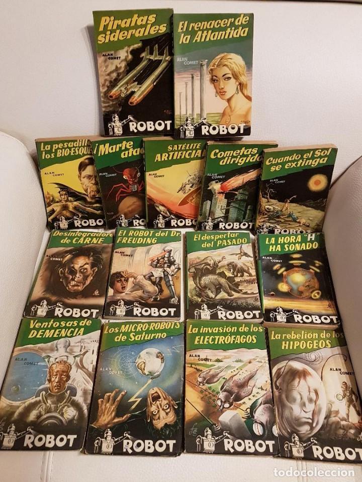 COLECCIÓN COMPLETA ROBOT - ALAN ROBOT - 15 LIBROS BUEN ESTADO - CIENCIA FICCIÓN - EDITORIAL MANDO (Libros de Segunda Mano (posteriores a 1936) - Literatura - Narrativa - Ciencia Ficción y Fantasía)