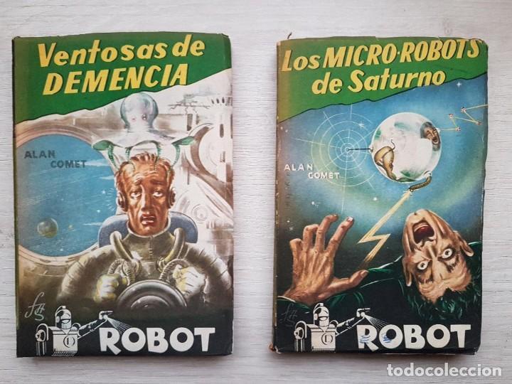 Libros de segunda mano: COLECCIÓN COMPLETA ROBOT - ALAN ROBOT - 15 LIBROS BUEN ESTADO - CIENCIA FICCIÓN - EDITORIAL MANDO - Foto 3 - 160404198