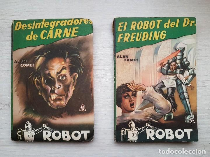 Libros de segunda mano: COLECCIÓN COMPLETA ROBOT - ALAN ROBOT - 15 LIBROS BUEN ESTADO - CIENCIA FICCIÓN - EDITORIAL MANDO - Foto 4 - 160404198