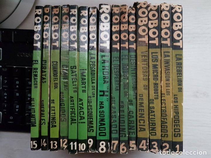 Libros de segunda mano: COLECCIÓN COMPLETA ROBOT - ALAN ROBOT - 15 LIBROS BUEN ESTADO - CIENCIA FICCIÓN - EDITORIAL MANDO - Foto 10 - 160404198