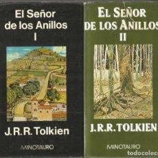 Libros de segunda mano: J.R.R. TOLKIEN. EL SEÑOR DE LOS ANILLOS. 3 TOMOS. MINOTAURO. Lote 160491762