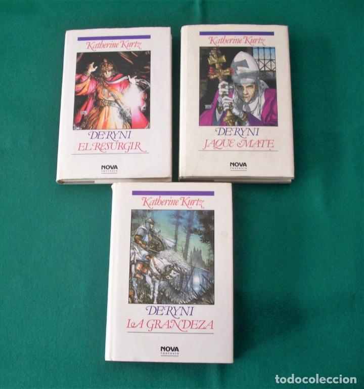 DERYNI - EL RESURGIR - JAQUE MATE - LA GRANDEZA - KATHERINE KURTZ - NOVA FANTASÍA - EDICIONES B.1991 (Libros de Segunda Mano (posteriores a 1936) - Literatura - Narrativa - Ciencia Ficción y Fantasía)