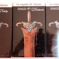 Libros de segunda mano: LA ESPADA DE JORAN COMPLETA - 1,2,3 - TAPA DURA CON SOBRECUBIERTA - 1988 TIMUN MAS. Lote 167628440