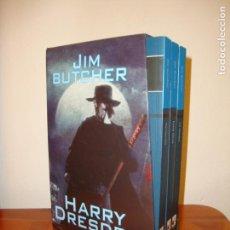 Libros de segunda mano: HARRY DRESDEN, 1, 2 Y 3 - JIM BUTCHER - FACTORIA DE IDEAS - MUY BUEN ESTADO. Lote 168971372