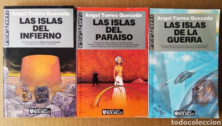 LOTE TRILOGÍA LAS ISLAS DEL INFIERNO COMPLETA, DE ÁNGEL TORRES QUESADA (ULTRAMAR CIENCIA FICCIÓN) (Libros de Segunda Mano (posteriores a 1936) - Literatura - Narrativa - Ciencia Ficción y Fantasía)