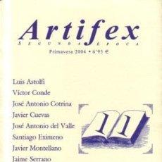 Libros de segunda mano: ARTIFEX SEGUNDA EPOCA 11 - ANTOLOGIA DE LITERATURA FANTASTICA. Lote 171136537
