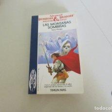 Livres d'occasion: DUNGEONS AND DRAGONS ADVANCED LIBRO JUEGO TIMUN MAS LAS MONTAÑAS SOMBRIAS. Lote 174013884