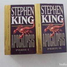 Libros de segunda mano: STEPHEN KING APOCALIPSIS 2 TOMOS. Lote 175393000