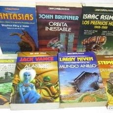 Libros de segunda mano: LOTE 7 LIBROS GRAN SUPER FICCION-FANTASY,MARTINEZ ROCA 1985-93,ISAAC ASIMOV,STEPHEN KING,JACK VANCE. Lote 122192623