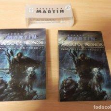 Libros de segunda mano: GEORGE R.R. MARTIN. JUEGO DE TRONOS / CANCION DE HIELO Y FUEGO / 1Y2 / GIGAMESH. Lote 175847387