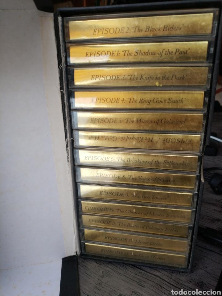 Libros de segunda mano: THE LORD OF THE RING - J.R.R. TOLKIEN (RAREZA EN AUDIO LIBRO EN 13 CASSETTES DE 1986, POR LA BBS) - Foto 3 - 176194347