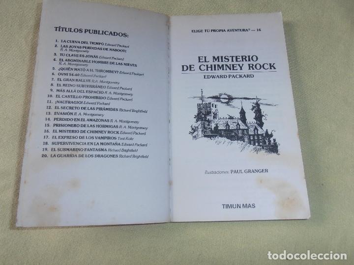Libros de segunda mano: LOTE - ELIGE TU PROPIA AVENTURA -- TIMUN MAS - 7 LIBROS - Foto 6 - 178149313