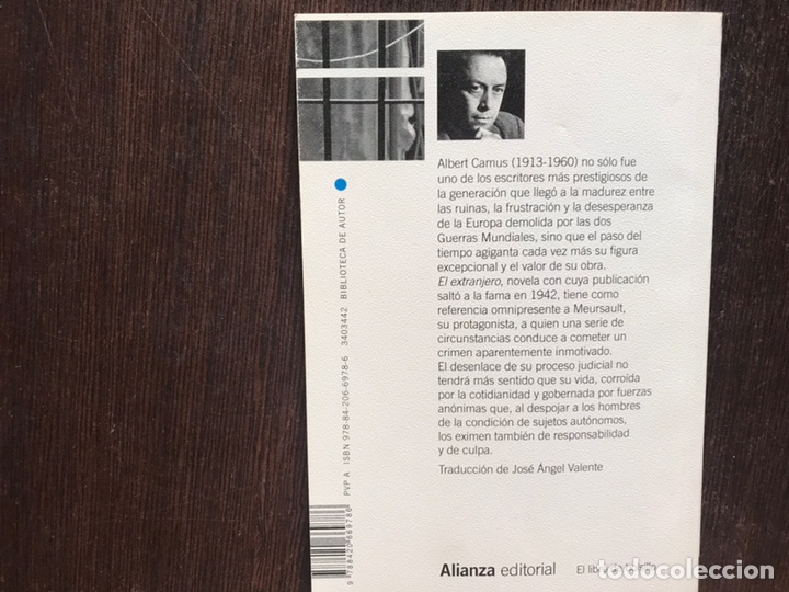 Libros de segunda mano: El extranjero. Camus. Alianza editorial - Foto 2 - 178164766
