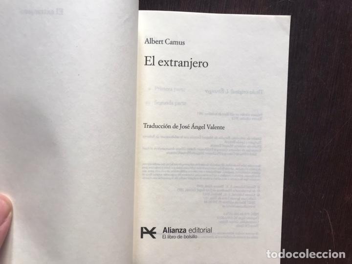 Libros de segunda mano: El extranjero. Camus. Alianza editorial - Foto 3 - 178164766