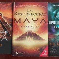 Libros de segunda mano: TRILOGÍA EL TESTAMENTO MAYA. Lote 178258303