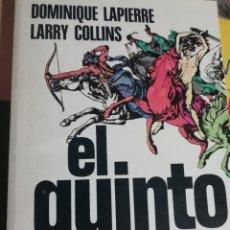 Libros de segunda mano: EL QUINTO JINETE. DOMINIQUE LAPIERRE. LARRY COLLINS. PLAZA Y JANÉS. 1981. Lote 178390612