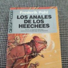 Libros de segunda mano: ULTRAMAR CIENCIA FICCION LOS ANALES DE LOS HEECHEES FREDERIK POHL. Lote 179147493